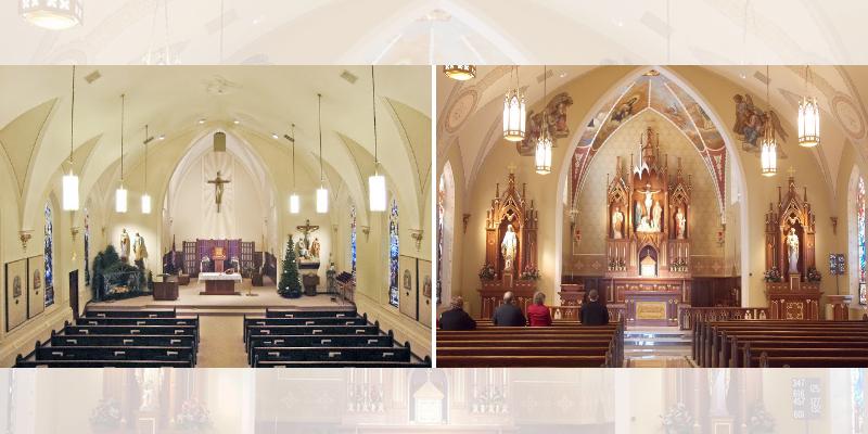 Renovação igreja antes e depois