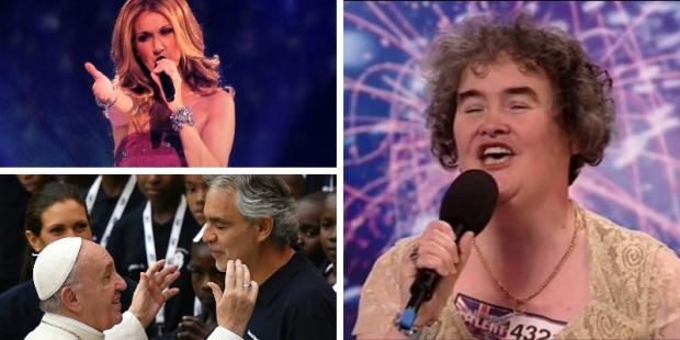 Susan Boyle, Céline Dion e Andrea Bocelli