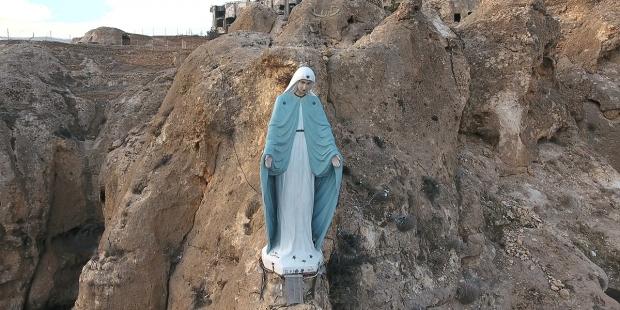 Imagem de Nossa Senhora na Síria
