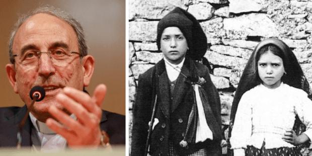 Cardeal António Marto e pastorinhos