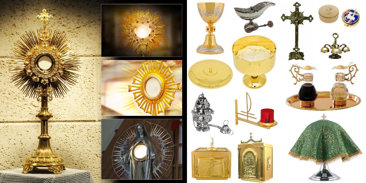 Objetos litúrgicos Eucaristia