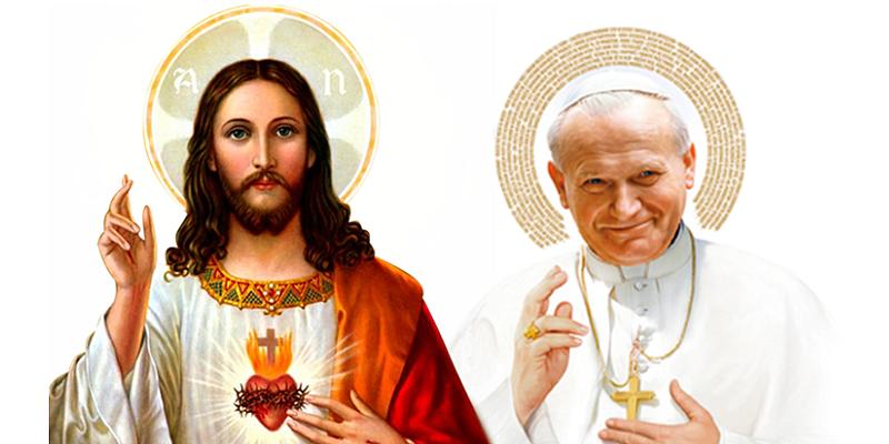 Sagrado Coração e São João Paulo II