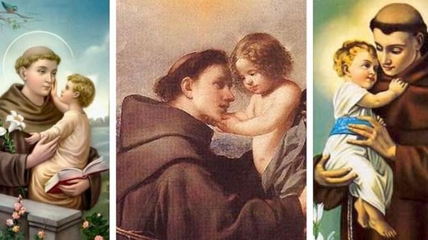 Santo Antonio de Padua e Lisboa e o Menino Jesus