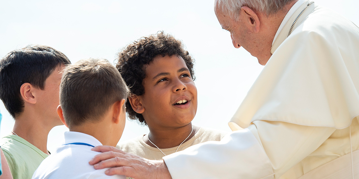 POPE FRANCIS,YOUTH,BOYS