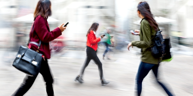 PEOPLE ON CELL PHONE