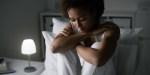 WOMAN,BED,SLEEP
