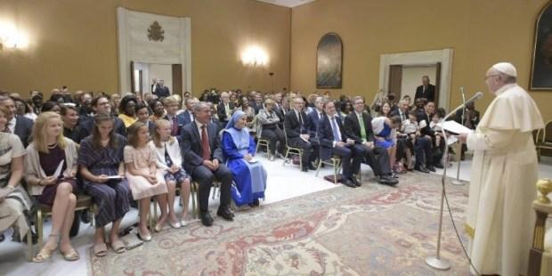 Papa audiência legisladores católicos