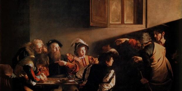 Caravaggio vocação Mateus
