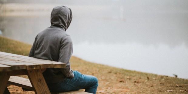 MAN,REFLECTING,PRAYING
