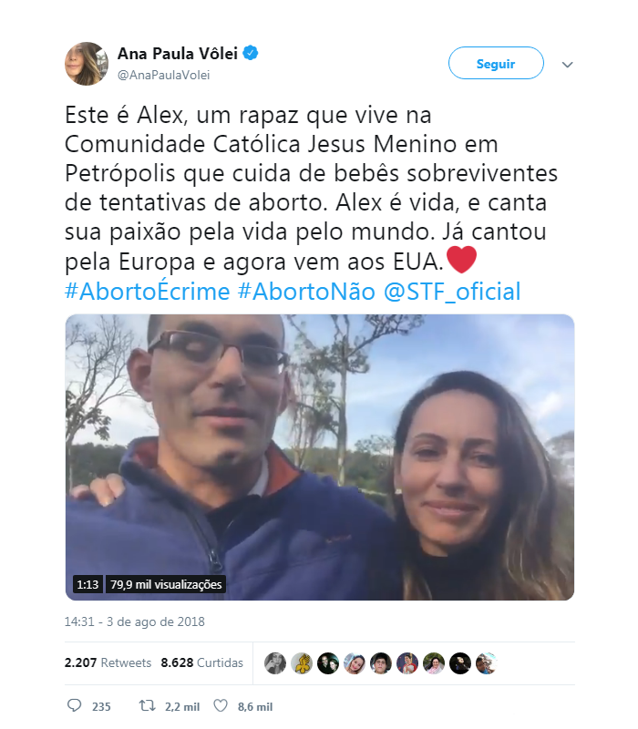 Ana Paula Volei Alex Jesus Menino
