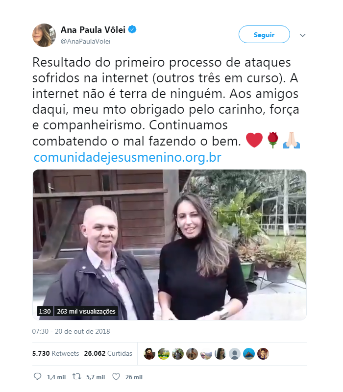 Ana Paula Volei Jesus Menino