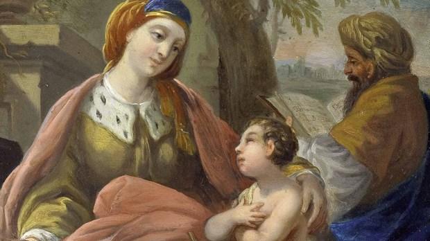 Isabel e Zacarias com João Batista