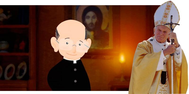 Pe Paulinho Ricardo e João Paulo II