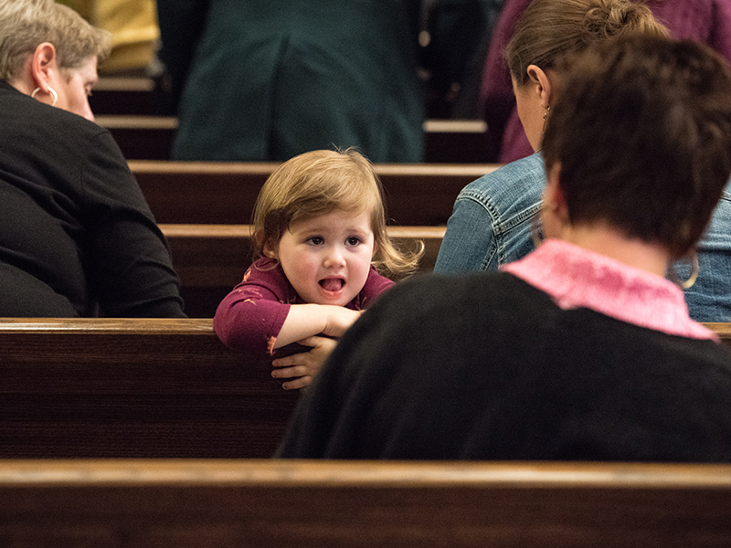 CHILD IN CHURCH