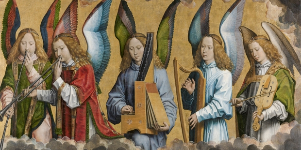 MUSICIAN ANGELS BY HANS MEMLING