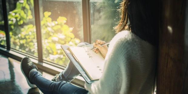 WOMAN,WRITING,JOURNAL