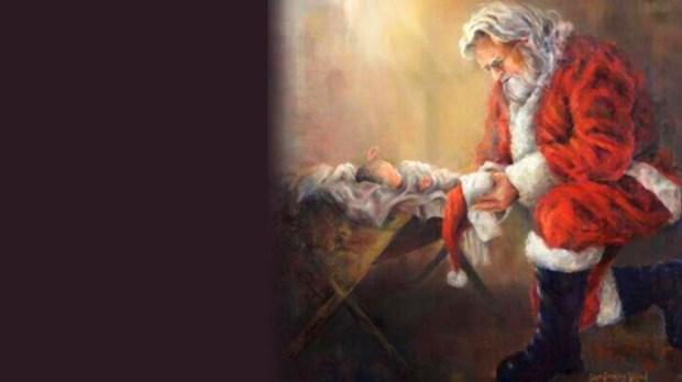 Papai Noel e Menino Jesus