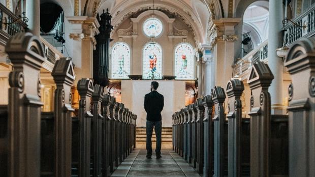 MAN,CHURCH,PEWS