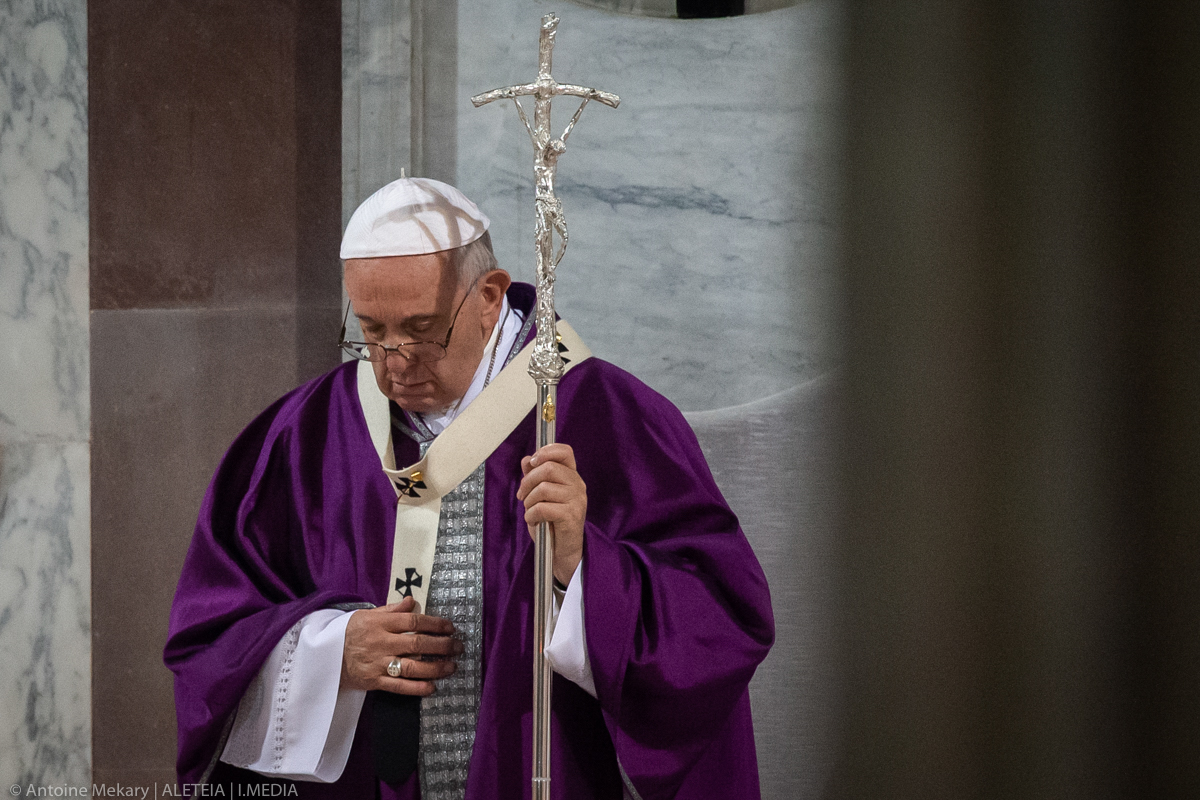 POPE FRANCIS ASH WEDNESDAY-