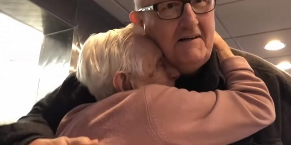 irmã de 87 anos reencontra irmão de 70