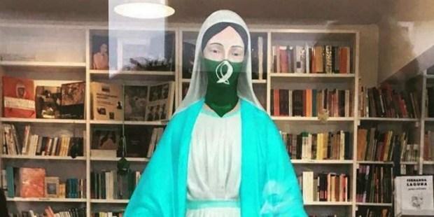 profanação Nossa Senhora aborto argentina