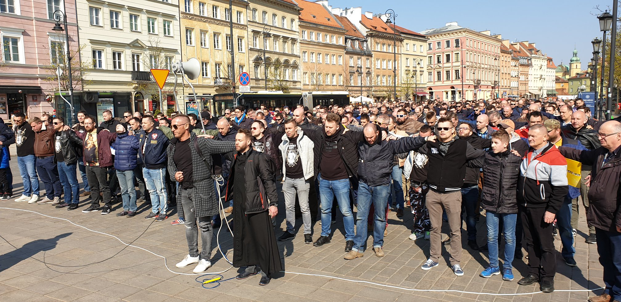 MAN,ROSARY,WARSAW,POLAND