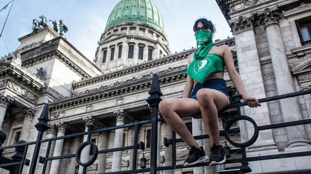 Feminista pró-aborto na Argentina