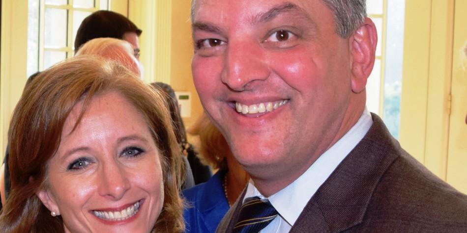 John Bel Edwards e Donna Hutto Edwards
