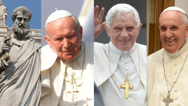 Papa Pedro João Paulo II Bento XVI Francisco