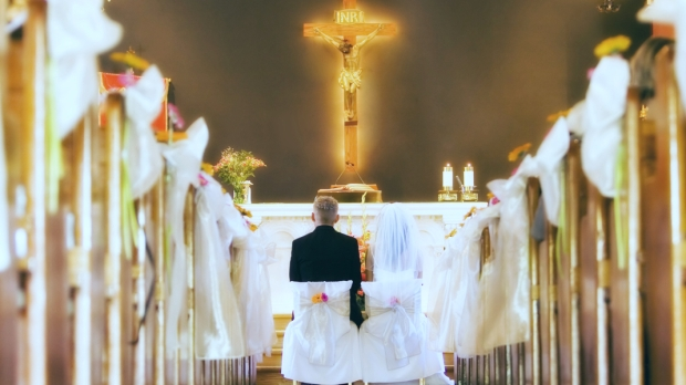 WEDDING, CHURCH, CRUCIFIX
