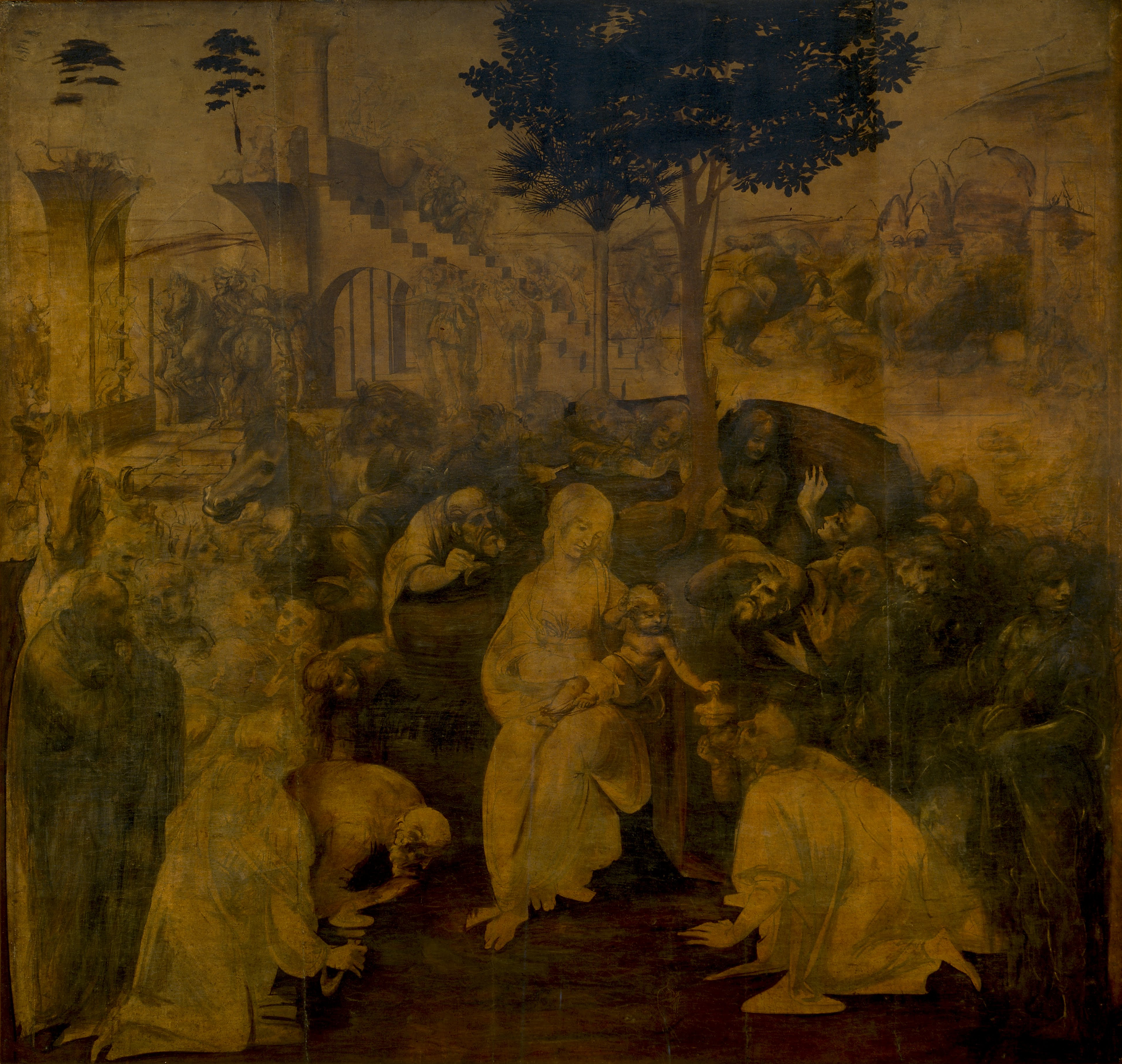 ADORATION OF THE MAGI, Leonardo da Vinci