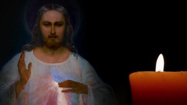 Vela representando a vontade de rezar