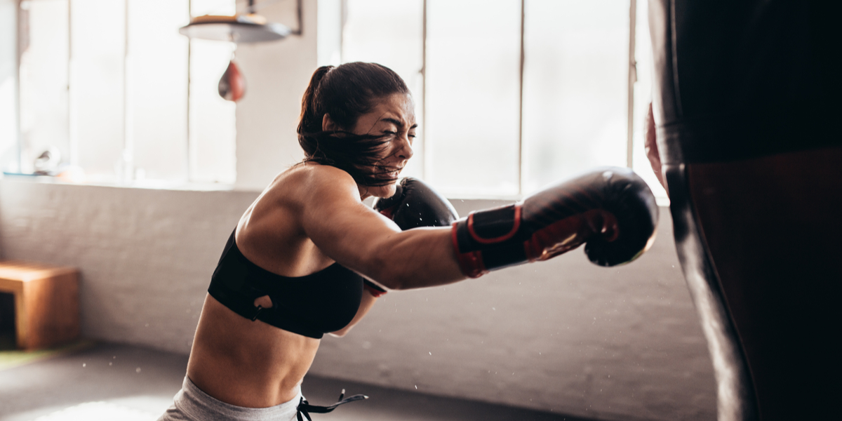 GIRL, BOXE, EXERCISE