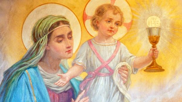 Maria e Jesus Eucaristia