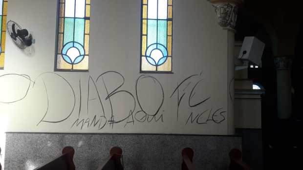 Vandalized church