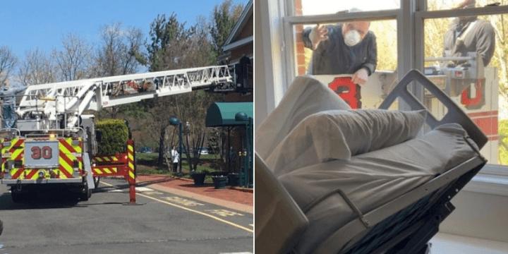 bombeiros filho despedida mãe asilo