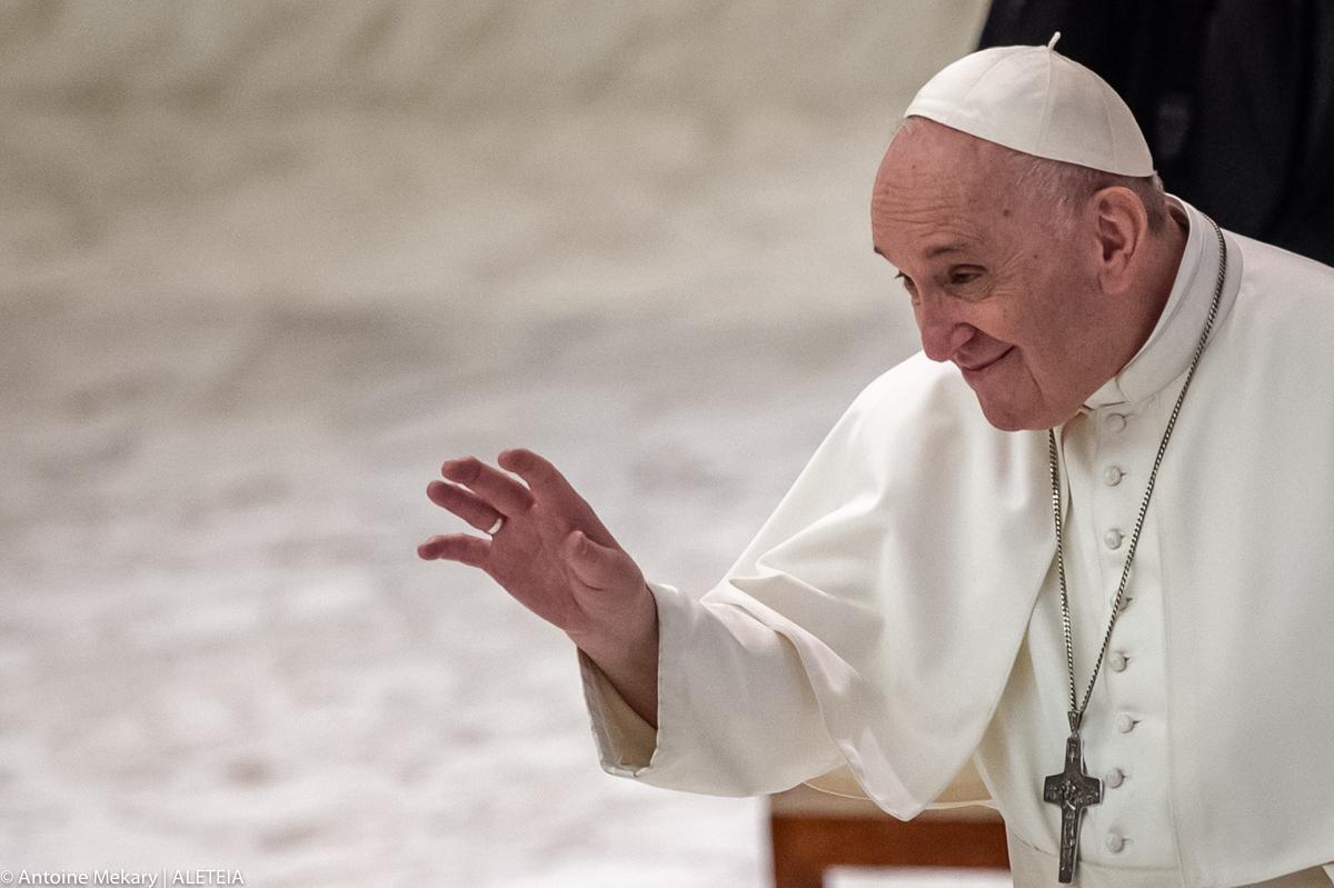Papa Francisco na audiência geral no Vaticano
