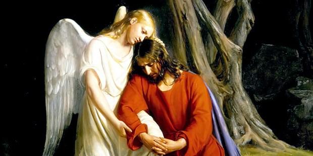 Jesus é confortado pelo anjo