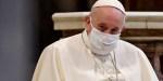 Papa Francisco com máscara contra covid