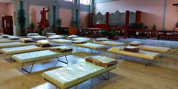 Capela vira hospital de campanha em Orbassano, Itália