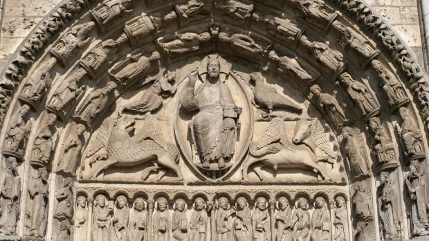 tympan cathédrale de chartres