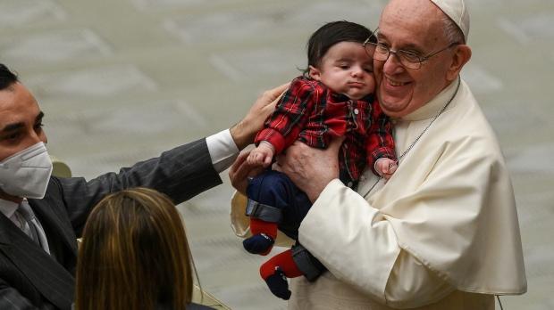 pope greetings curia