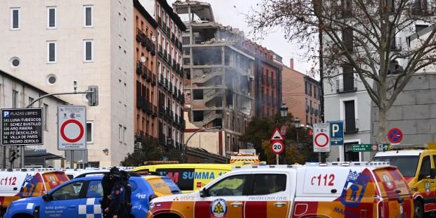 Prédio que explodiu em Madri