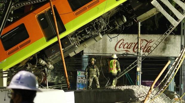 Acidente no metrô do México