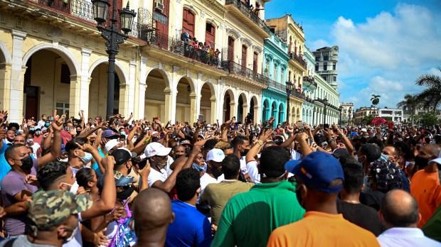 PROTESTOS CONTRA A DITADURA DE CUBA EM HAVANA