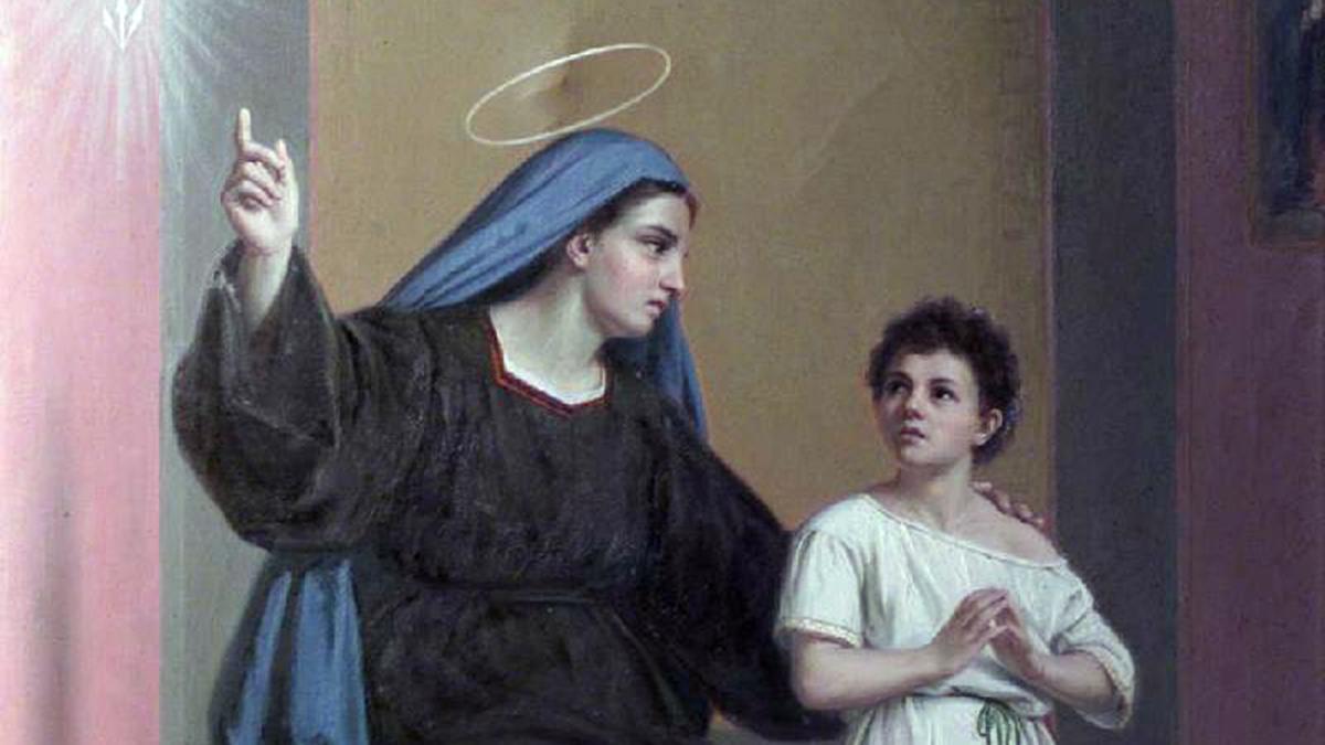 Sabia que Santa Mônica também rezava muito pelo neto?
