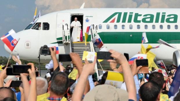 A última viagem de um Papa pela Alitalia
